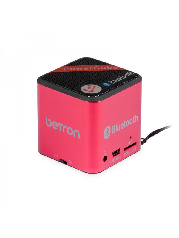 Power Cube Portable Bluetooth Speaker - Red