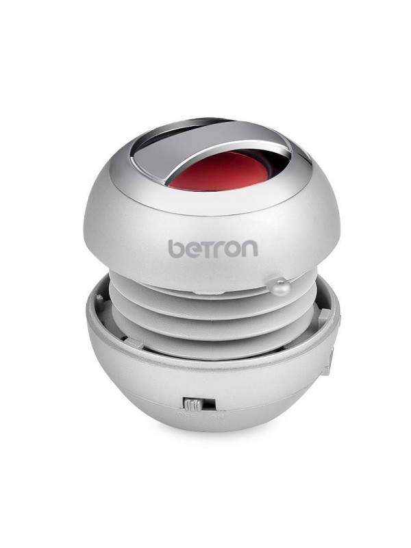 Betron BPS60 Mini Portable Wireless Bluetooth Speakers - Silver