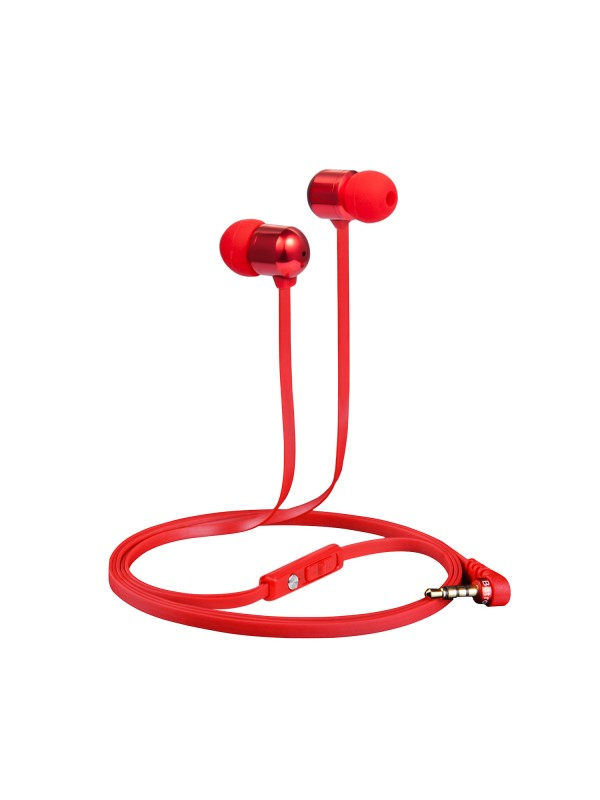 B750 In-Ear Headphones with Microphone - Red