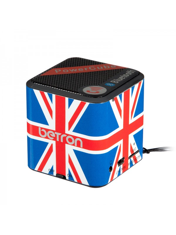 Power Cube Portable Bluetooth Speaker - The Union Jack