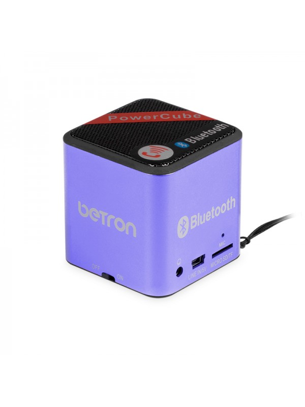 Power Cube Portable Bluetooth Speaker - Purple
