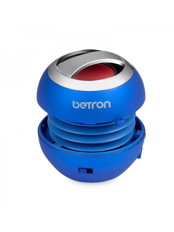 Betron BPS60 Mini Portable Wireless Bluetooth Speakers - Blue