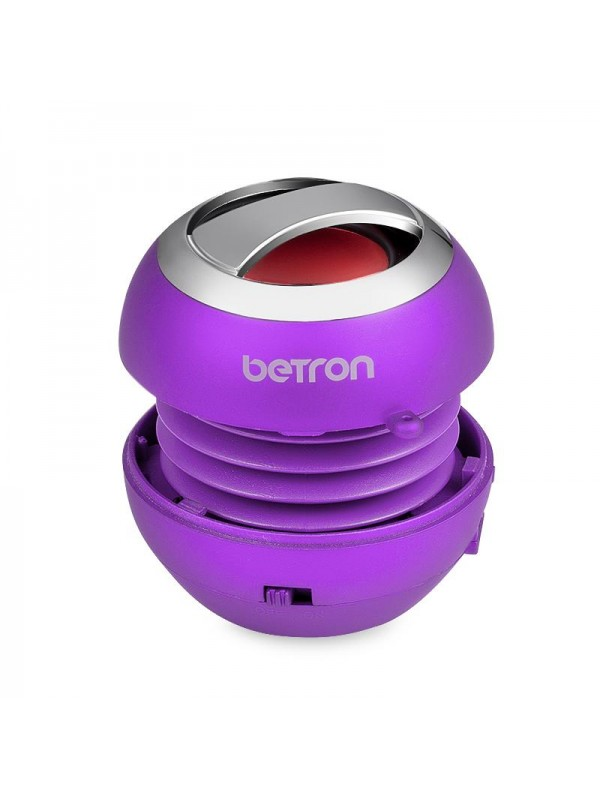 Betron BPS60 Mini Portable Wireless Bluetooth Speakers - Purple