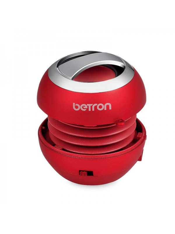 Betron BPS60 Mini Portable Wireless Bluetooth Speakers - Red